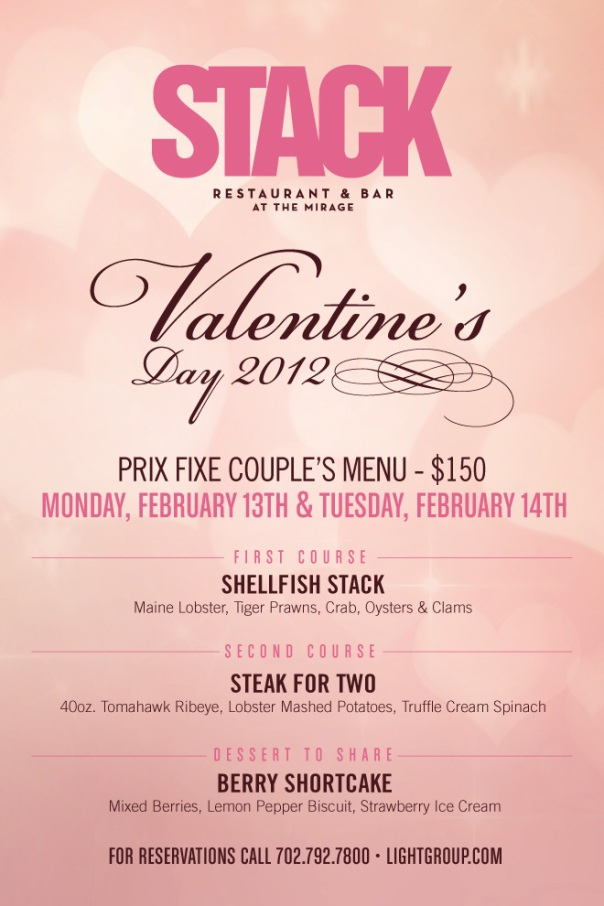 Stack Valentine's Day Menu