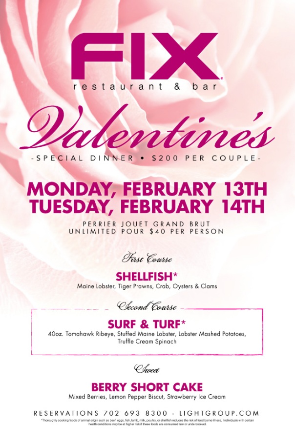 Fix Valentine's Day Menu